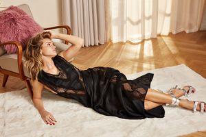 Бесплатные фото rosie huntington-whiteley,модель,женщины,черные наряды,лежа на боку,актриса