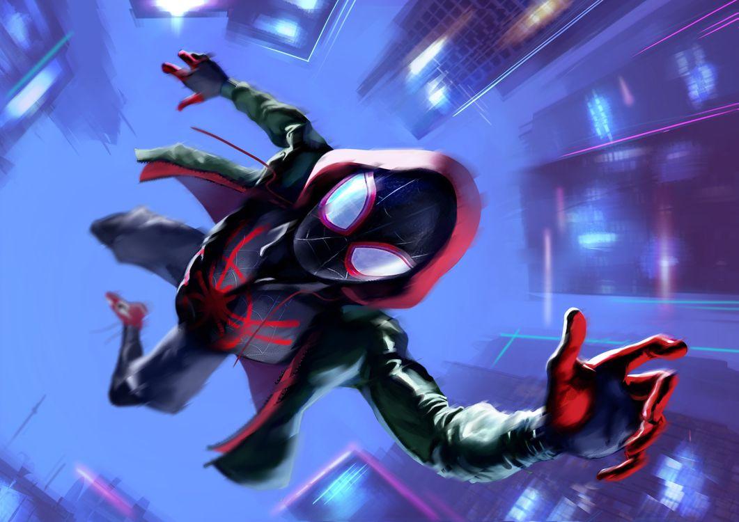 Фото бесплатно Spiderman Into The Spider Verse, произведение искусства, художник - на рабочий стол