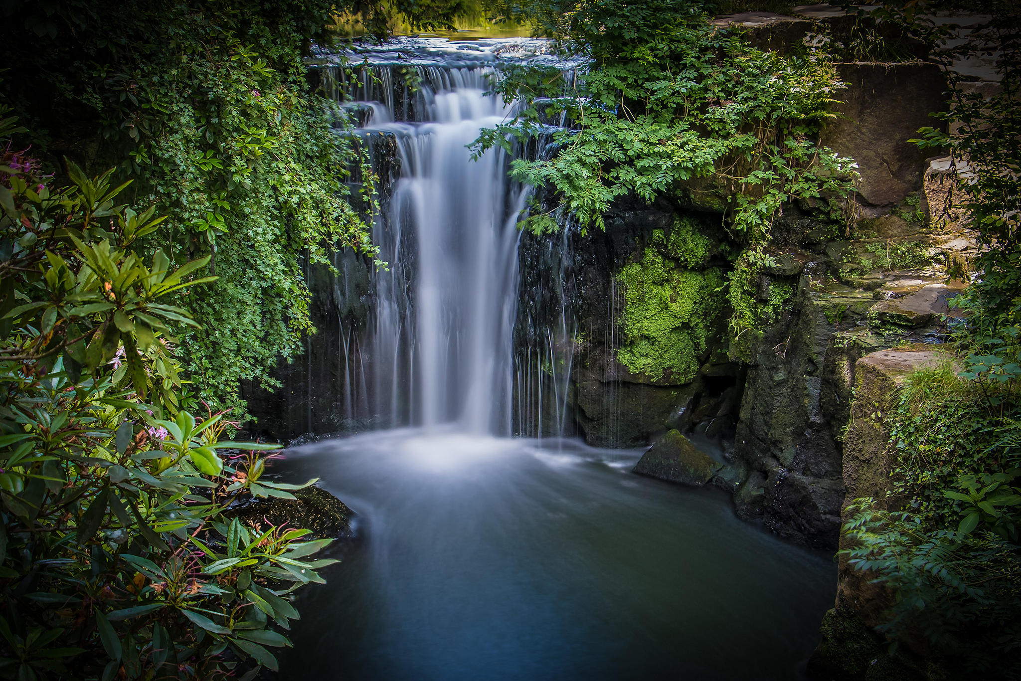 водопад, Jesmond Dene Park, Ньюкасл-апон-Тайн