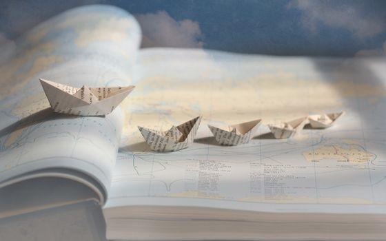Фото бесплатно белый, оригами, бумага