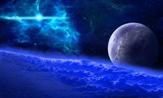 Фото бесплатно космос, атмосфера, облака