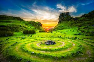 Фото бесплатно зеленый цвет природы, зеленый камень, зеленый небо
