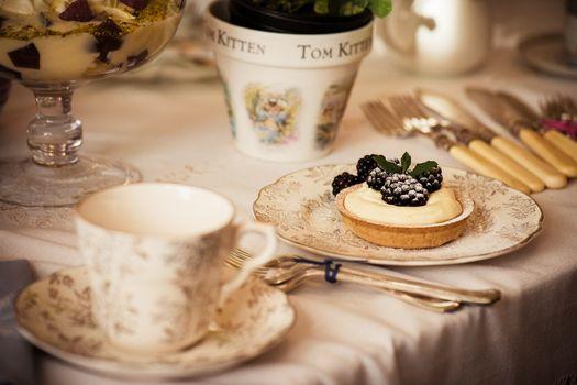 Photo free tart, blackberry, dessert
