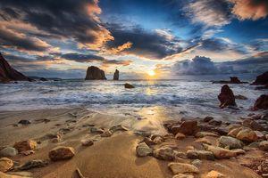 Фото бесплатно волны, берег, камни