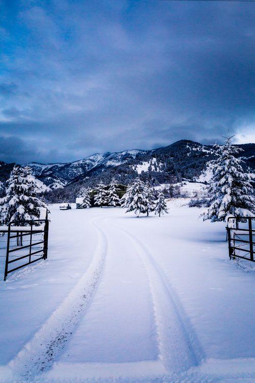 Снежная дорога · бесплатное фото