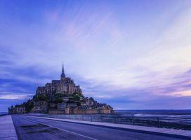 Фото бесплатно замок Мон-Сен-Мишель, Нормандия, Франция