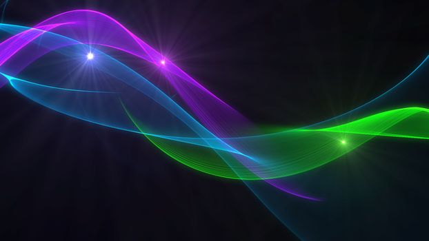 Lines and flashes of blue, green and purple · free photo