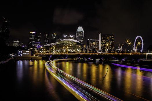Фото бесплатно темно, город, ночь