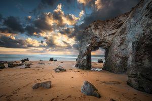 Фото бесплатно скалы, горизонт, облака