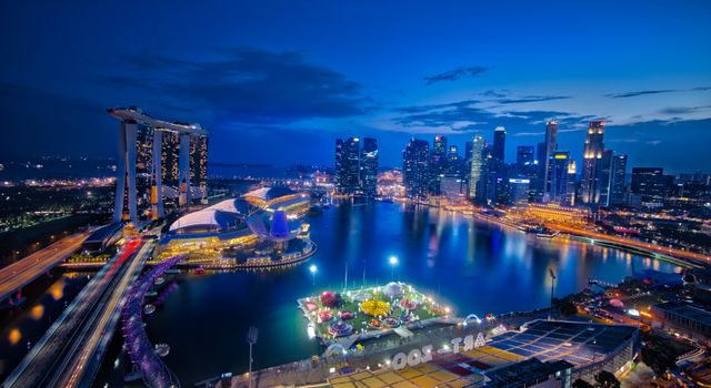 Фото бесплатно Singapore, город, ночь