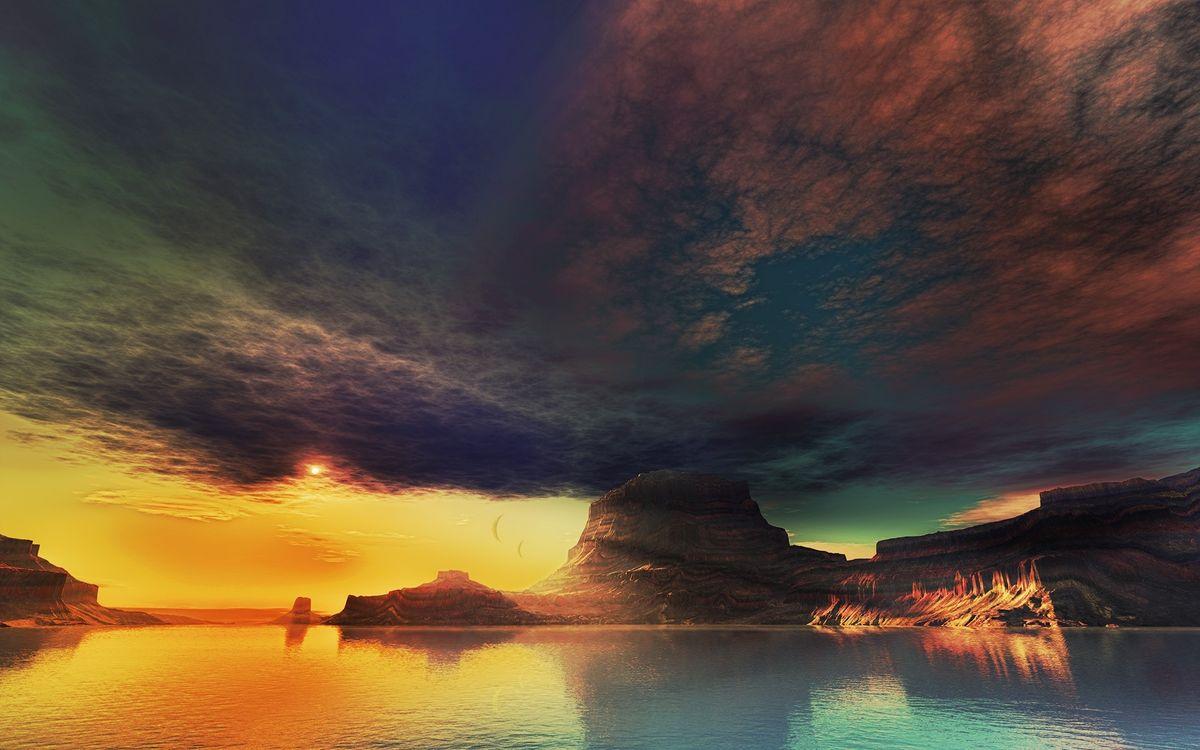 Фото явление метеорологическое явление вечер - бесплатные картинки на Fonwall