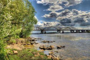 Бесплатные фото заводь,Днепр,Киев,Украина,мост,река,деревья