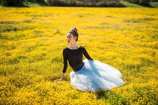 Photo free girls, ballet, meadow