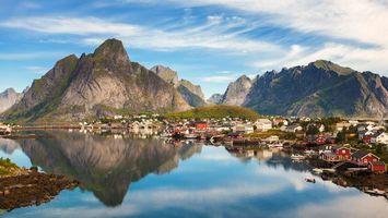 Бесплатные фото Лофотенские острова,Рейне,Reine,Норвегия,Lofoten,Lofoten Islands