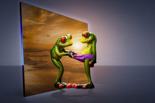 Фото бесплатно лягушки, статуэтка, фигурки
