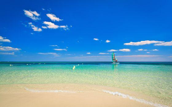 Бесплатно пляж, яхта - фото красивые