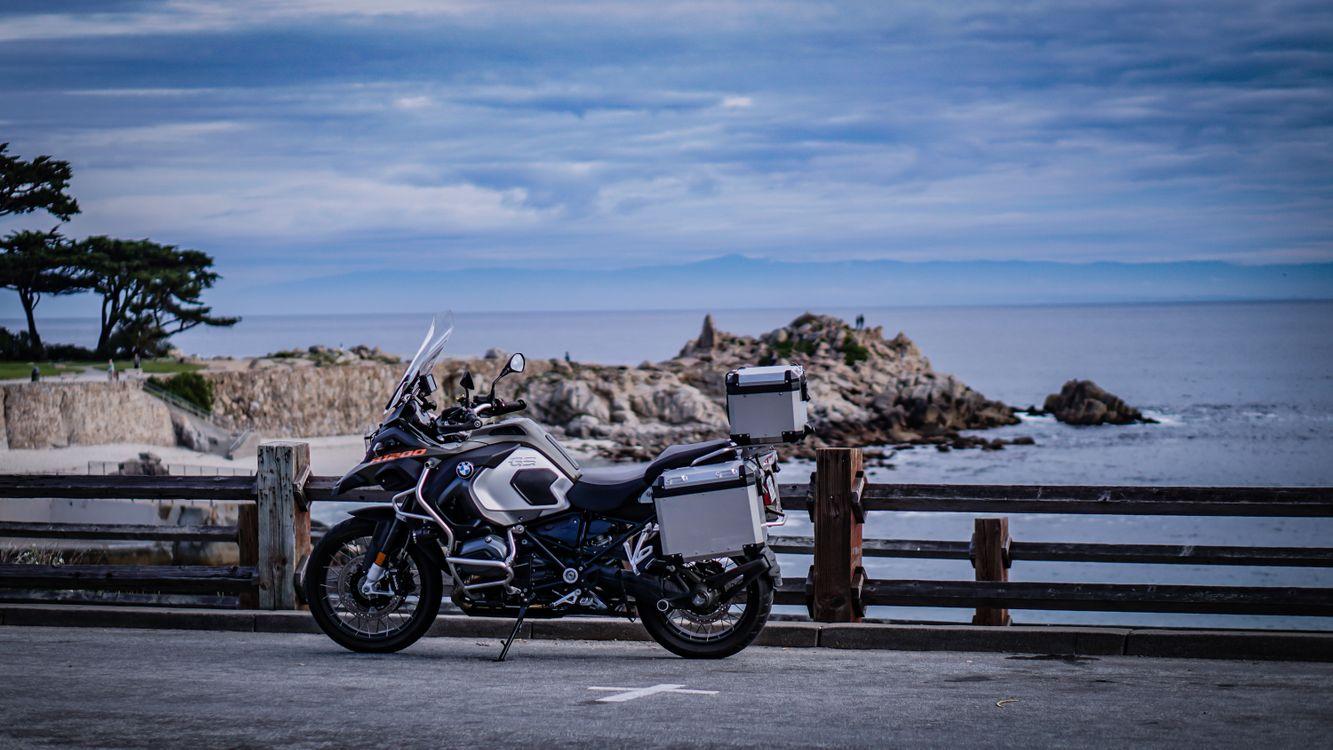 Фото бесплатно мотоцикл, велосипед, море - на рабочий стол