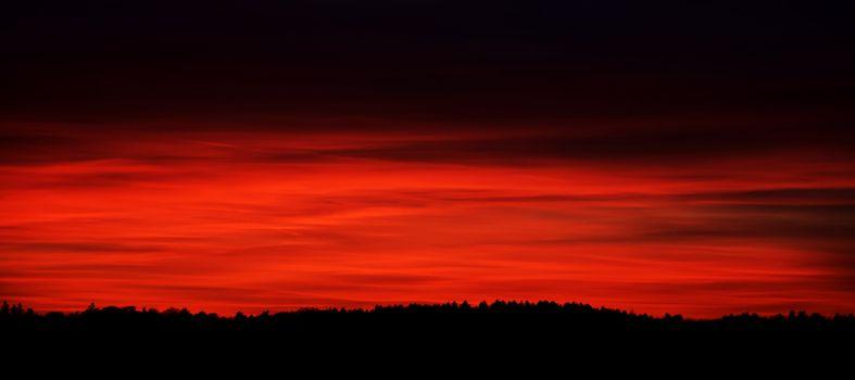 Красный заката солнца