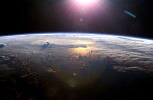 Фото бесплатно солнечный свет, ночь, планета