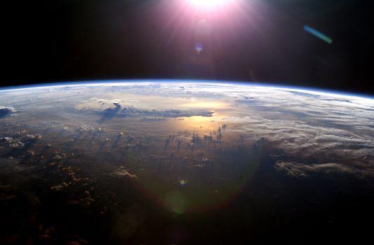 Photo free sun light, night, planet