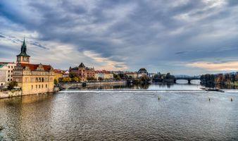 Фото бесплатно Vltava River, Prague, Прага