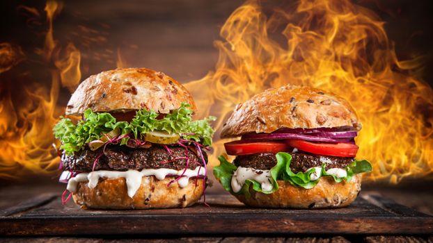 Огненный гамбургер