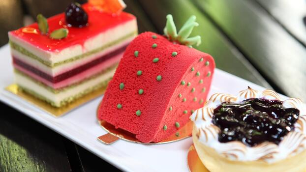 Photo free desert, sweets, cream