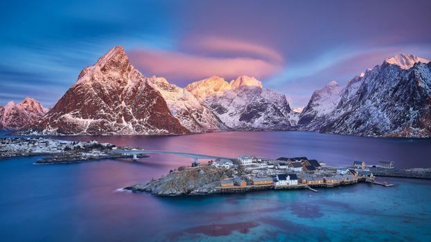 Фото бесплатно горы, остров, природа