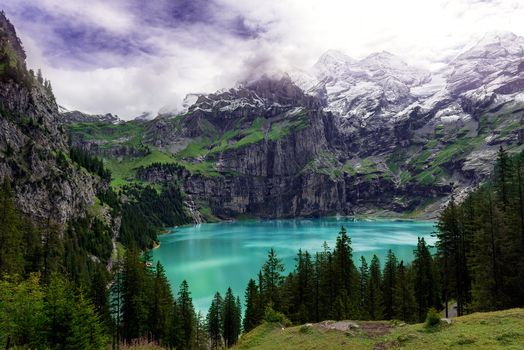 Photo free Lake Eshinen - a lake in Bernese Oberland, Bernese Oberland,