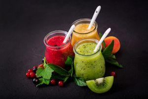 Фото бесплатно напиток, завтрак, фрукты