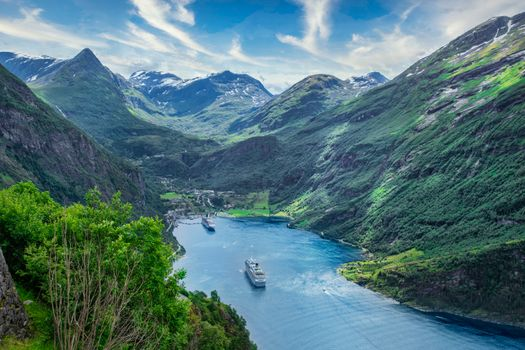 Photo free nature, Norway, cruise liner