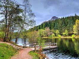Фото бесплатно Гленко-Лохан, Шотландия, пейзаж