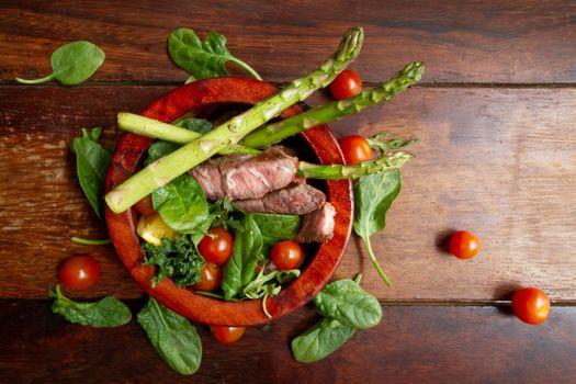 Photo free food, asparagus, basil