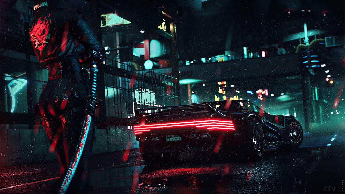 Фото киберпанк 2077 задняя часть машина - бесплатные картинки на Fonwall