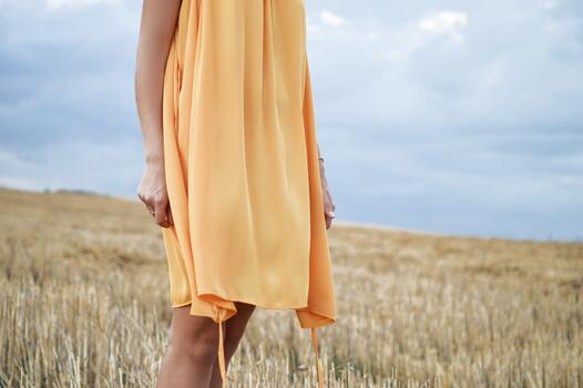 Фото бесплатно поле, пшеница, женщина