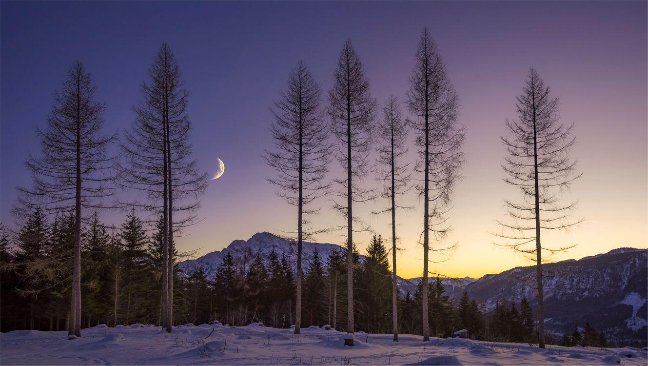 Фото бесплатно Austria, закат, горы - на рабочий стол