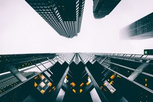 Фото бесплатно здания, небоскребы, вид снизу