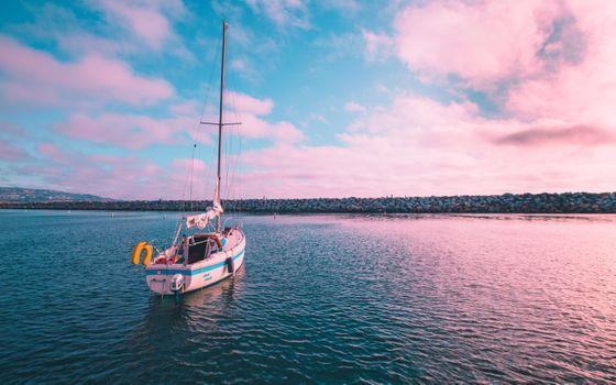 Фото бесплатно Калифорния, лодка, море