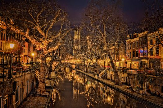 Photo free Utrecht, Netherlands, night