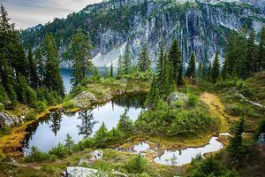Бесплатные фото Снежное озеро,Snow Lake,Arkansas,озеро,горы,деревья,пейзаж