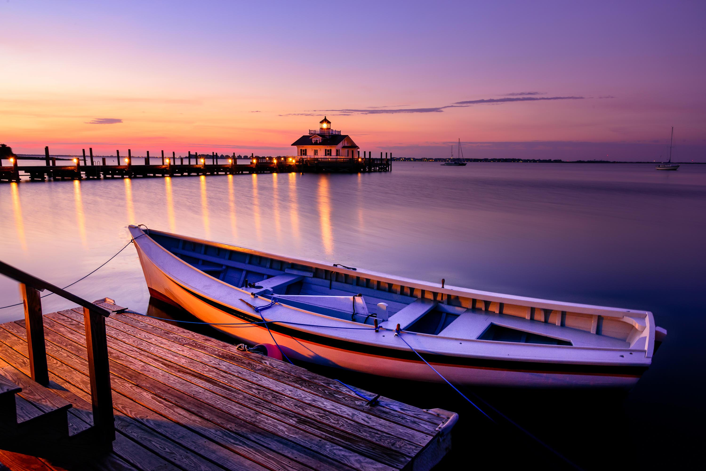 Восход, Северная Каролина, лодка