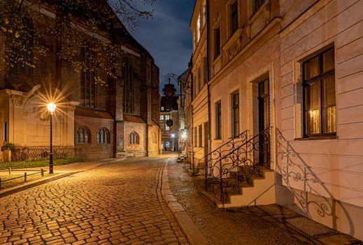 Photo free street lights, houses Germany, houses