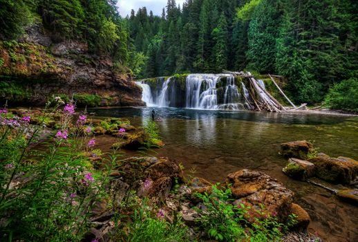 Фото бесплатно Lower Lewis Falls, река, водопад