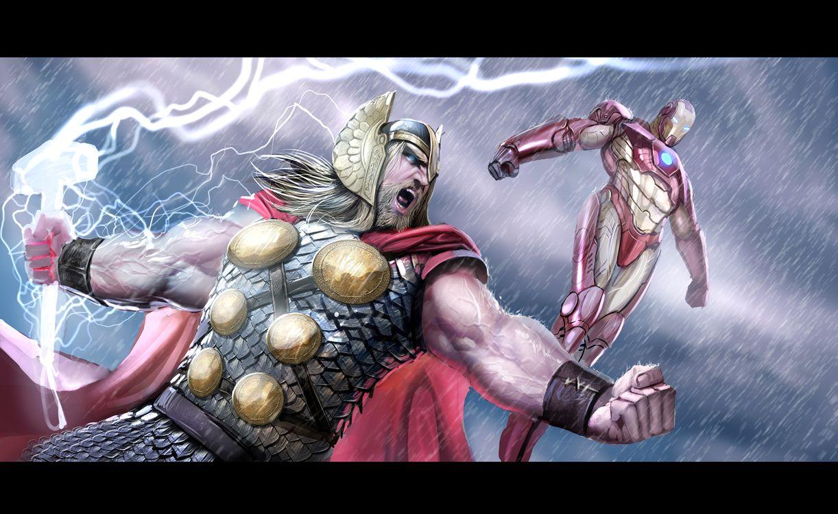 Фото бесплатно Небезиаль, Тор, Железный Человек, Мстители, фильмы