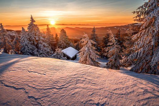 Фото бесплатно Vosges, France, закат