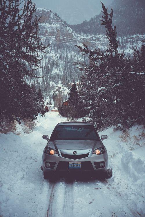 Фото бесплатно авто, зима, вид спереди - на рабочий стол
