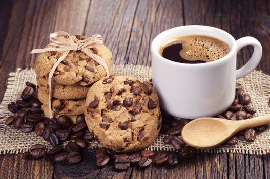 Фото бесплатно печенье, кофе, чашка