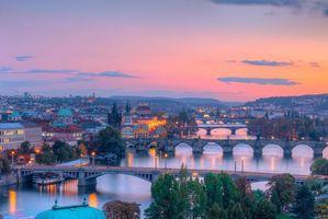 Бесплатные фото Прага, Чехия, закат
