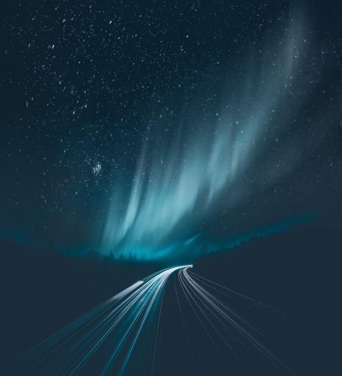Ночная дорога · бесплатное фото