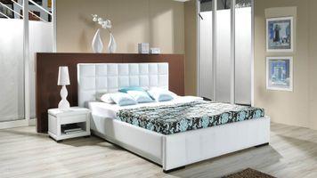 Заставки спальня, кровать, лампа